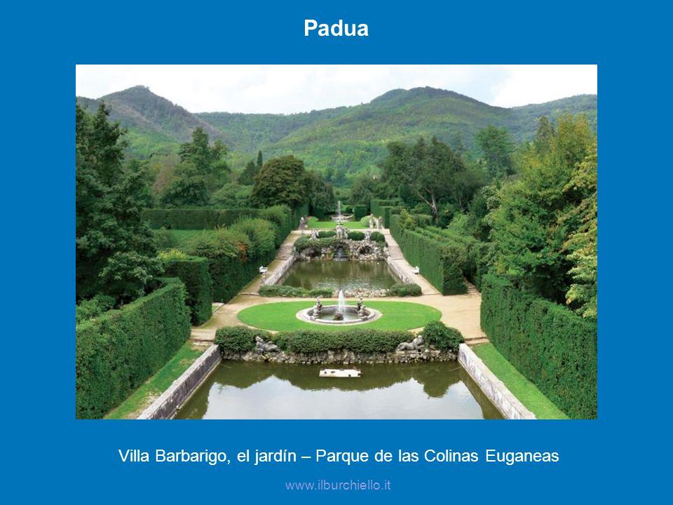 Villa Barbarigo, el jardín – Parque de las Colinas Euganeas