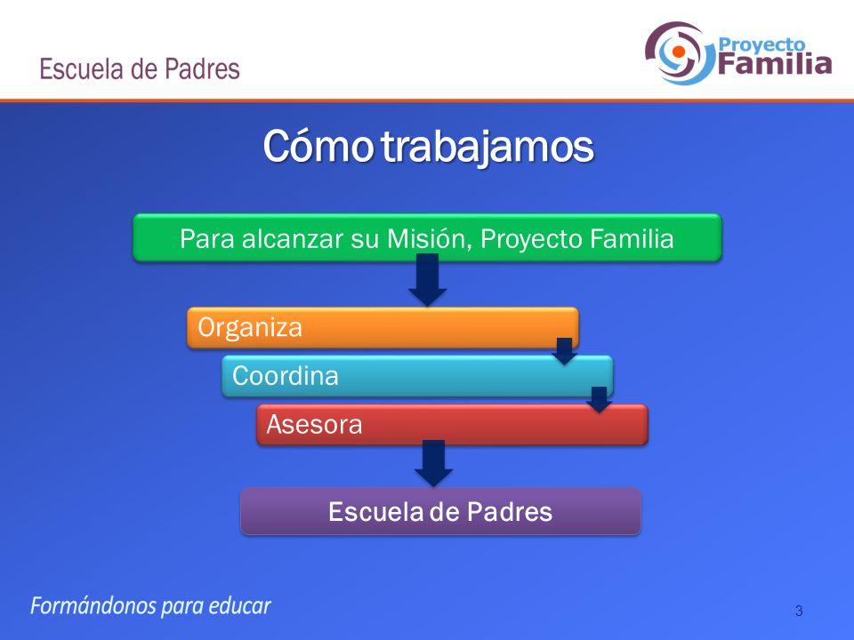 Para alcanzar su Misión, Proyecto Familia