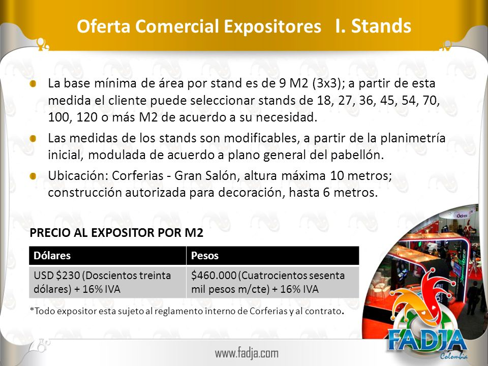Oferta Comercial Expositores I. Stands