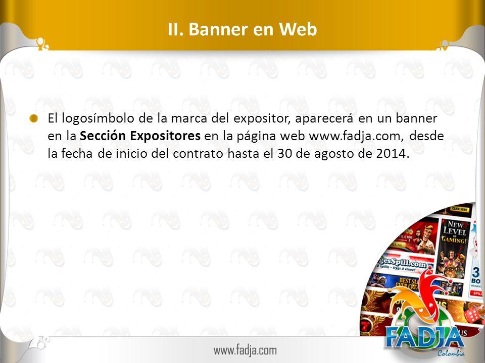 II. Banner en Web