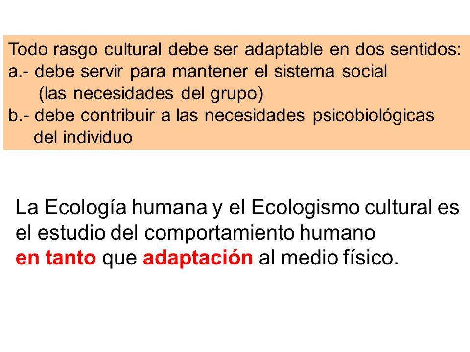 La Ecología humana y el Ecologismo cultural es