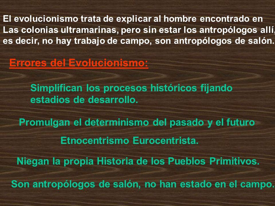Errores del Evolucionismo: