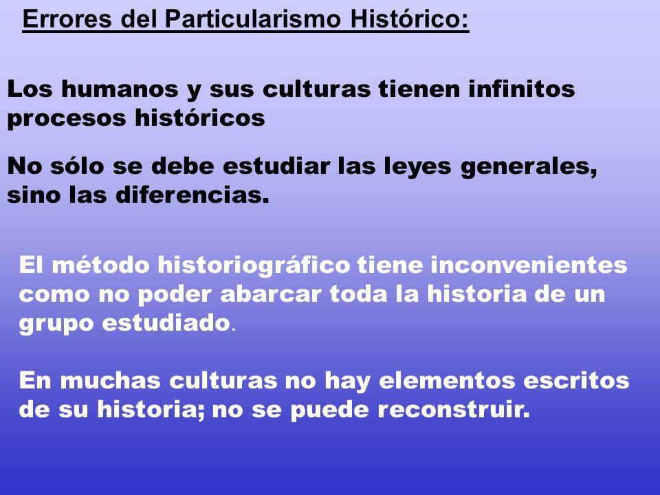 Errores del Particularismo Histórico: