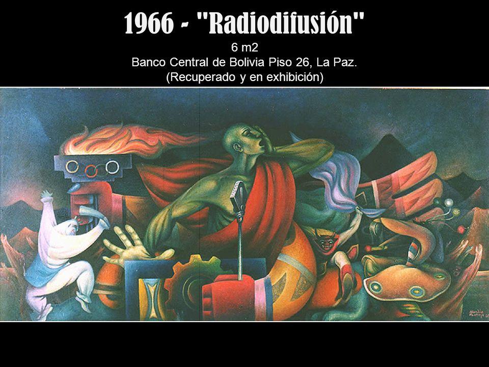 1966 - Radiodifusión 6 m2 Banco Central de Bolivia Piso 26, La Paz