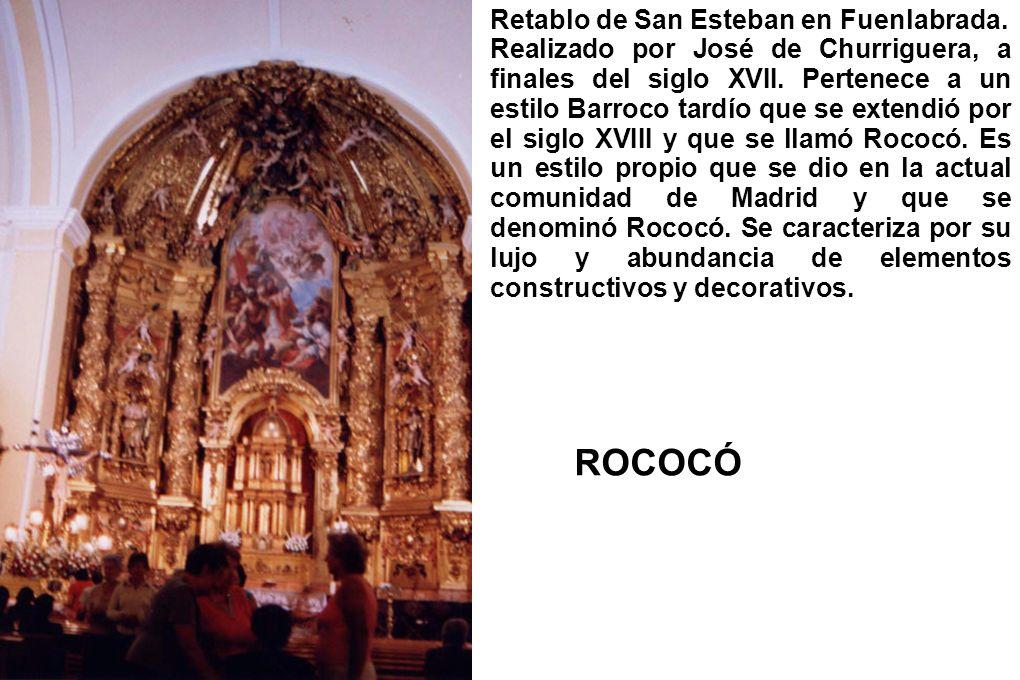 ROCOCÓ Retablo de San Esteban en Fuenlabrada.