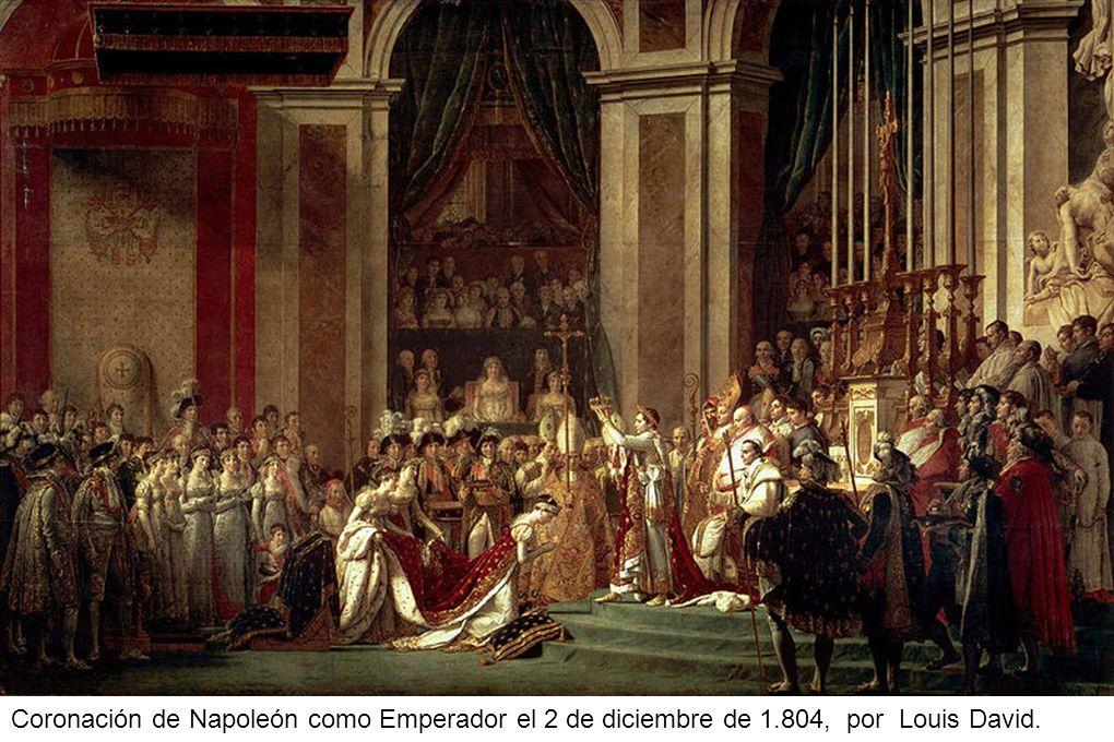 Coronación de Napoleón como Emperador el 2 de diciembre de 1