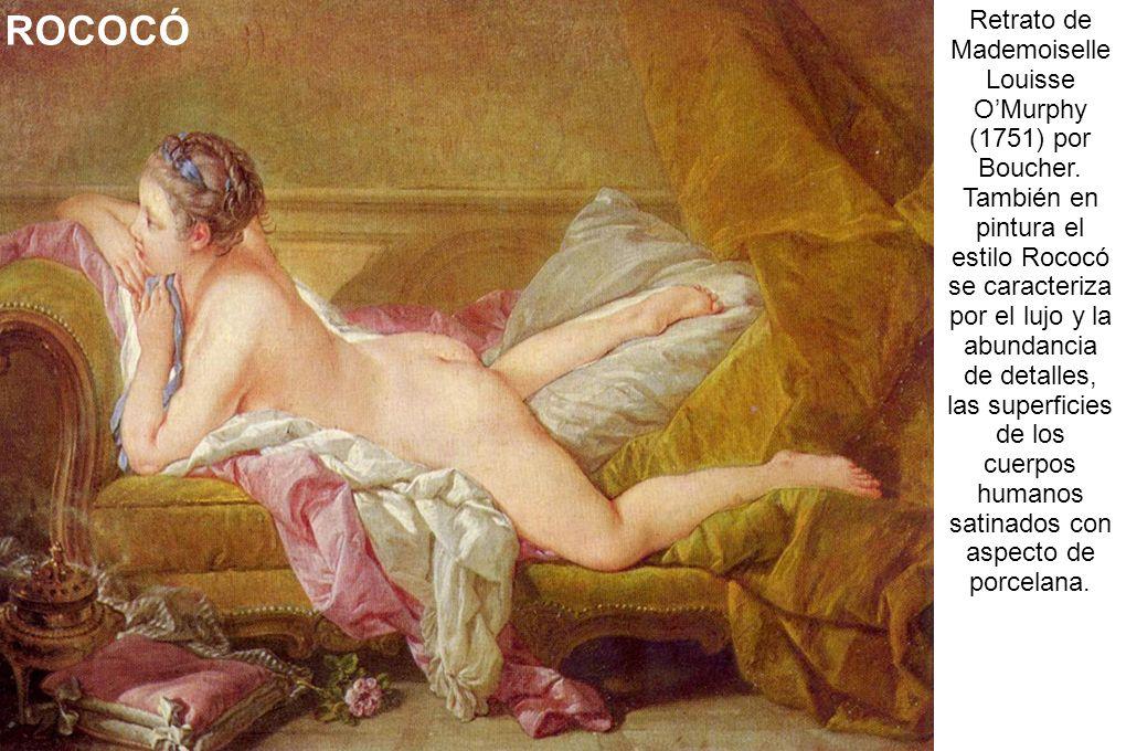 Retrato de Mademoiselle Louisse O'Murphy (1751) por Boucher.