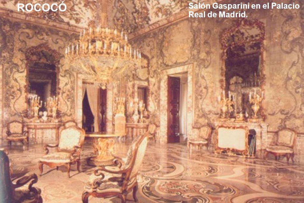 Salón Gasparini en el Palacio Real de Madrid.