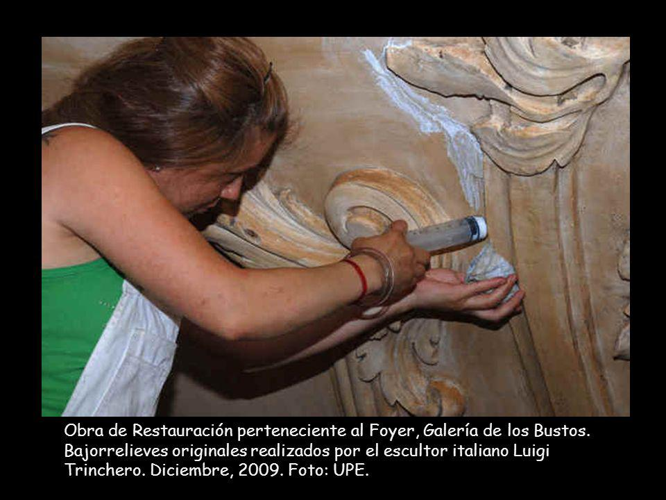 Obra de Restauración perteneciente al Foyer, Galería de los Bustos