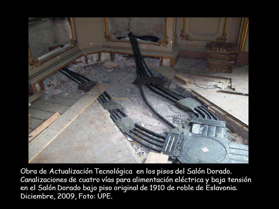 Obra de Actualización Tecnológica en los pisos del Salón Dorado