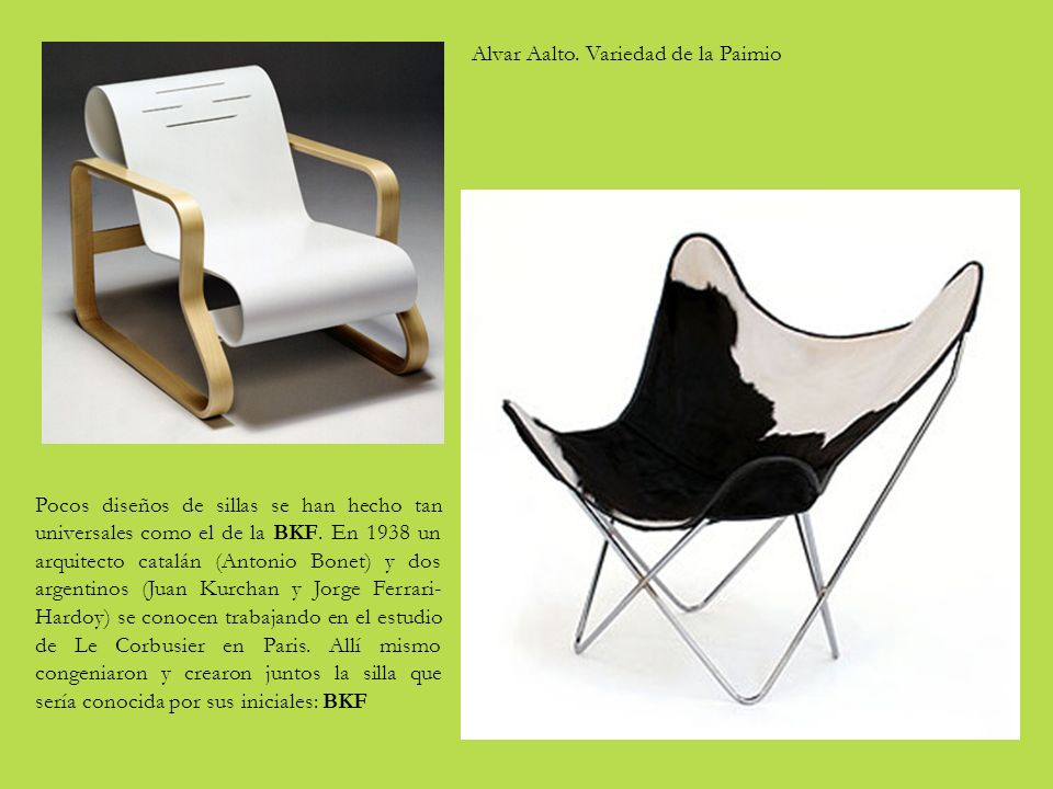 Galer a de sillas imprescindibles ppt descargar for Alvar aalto muebles