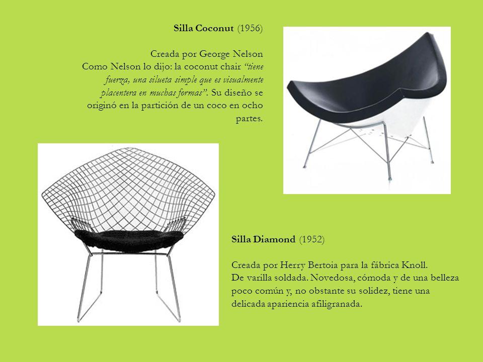 Silla Coconut (1956) Creada por George Nelson.