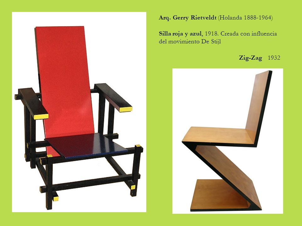 Arq. Gerry Rietveldt (Holanda 1888-1964)