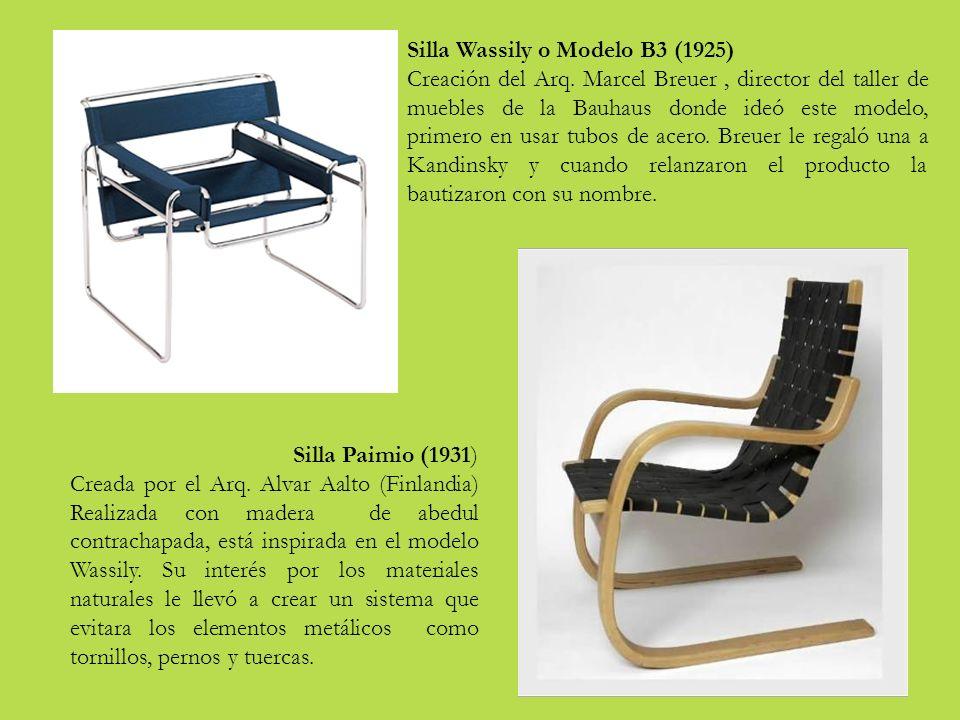Silla Wassily o Modelo B3 (1925)