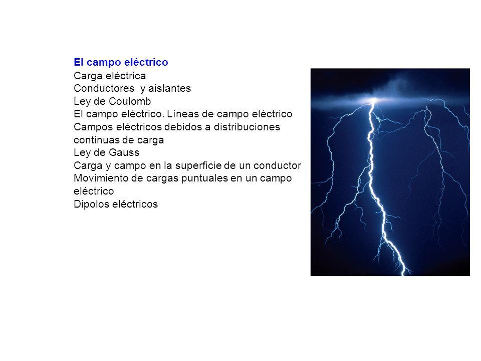 El campo eléctrico. Carga eléctrica. Conductores y aislantes