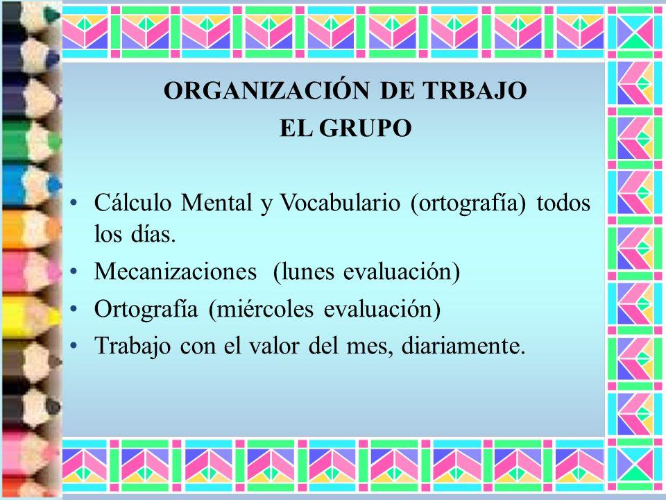 ORGANIZACIÓN DE TRBAJO