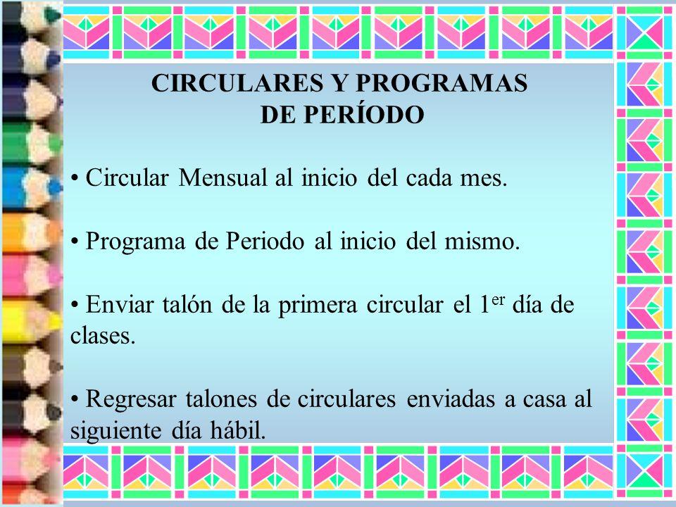 CIRCULARES Y PROGRAMAS