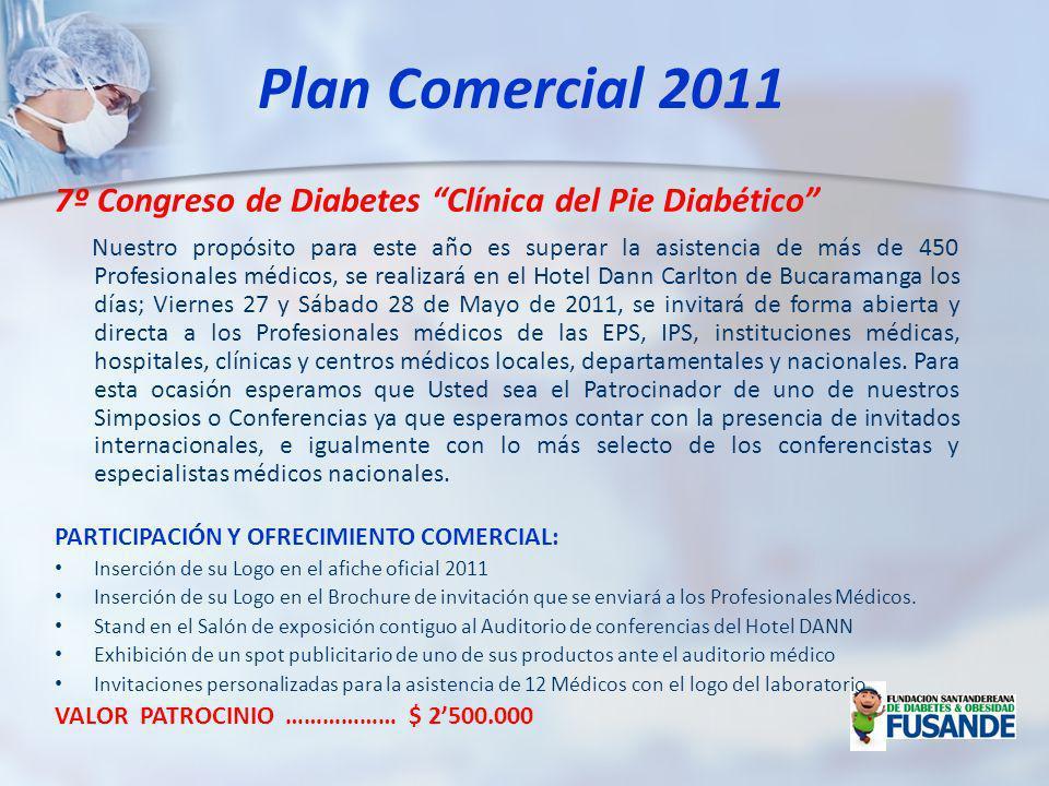Plan Comercial 2011 7º Congreso de Diabetes Clínica del Pie Diabético