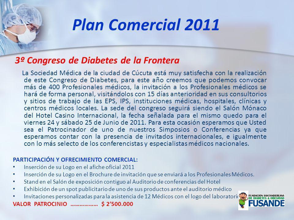 Plan Comercial 2011 3º Congreso de Diabetes de la Frontera