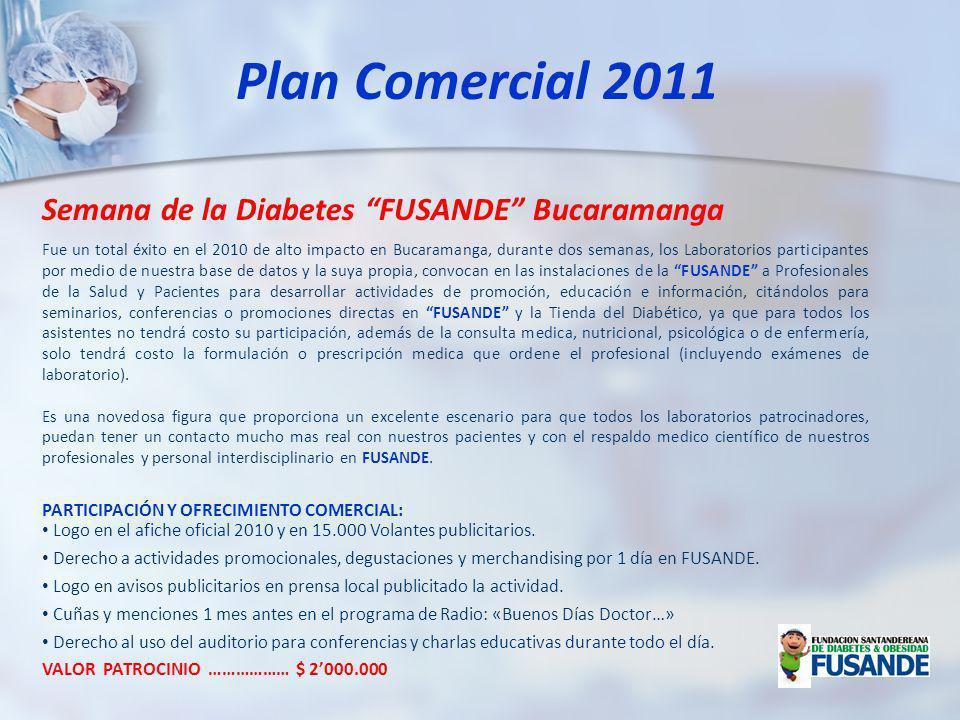 Plan Comercial 2011 Semana de la Diabetes FUSANDE Bucaramanga