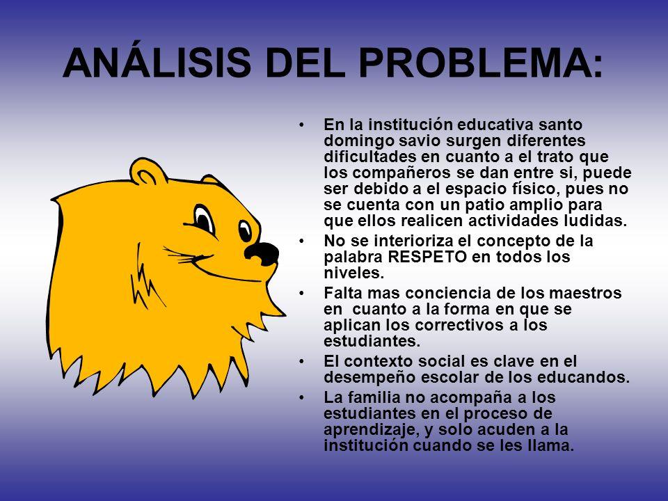 ANÁLISIS DEL PROBLEMA: