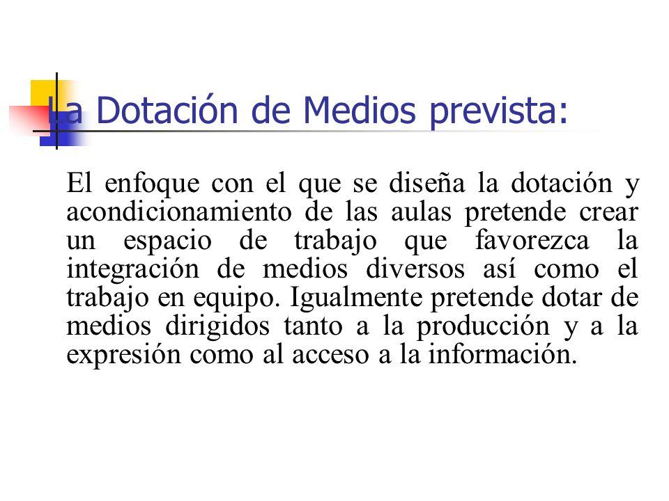 La Dotación de Medios prevista:
