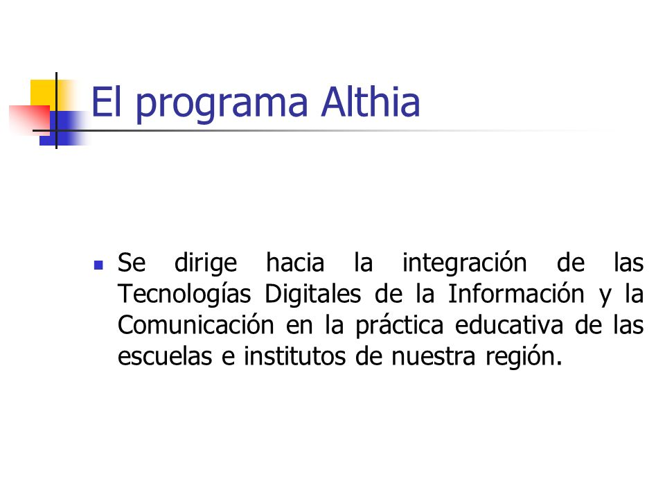El programa Althia