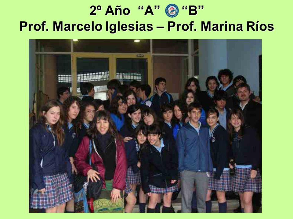 2º Año A B Prof. Marcelo Iglesias – Prof. Marina Ríos