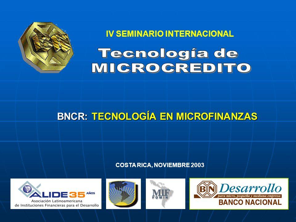 IV SEMINARIO INTERNACIONAL BNCR: TECNOLOGÍA EN MICROFINANZAS