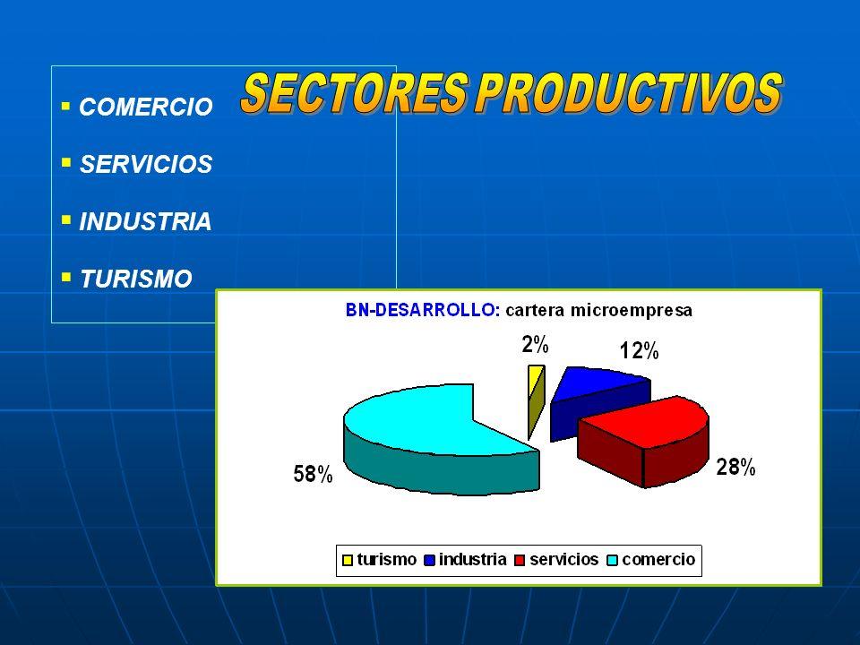 COMERCIO SERVICIOS INDUSTRIA TURISMO SECTORES PRODUCTIVOS