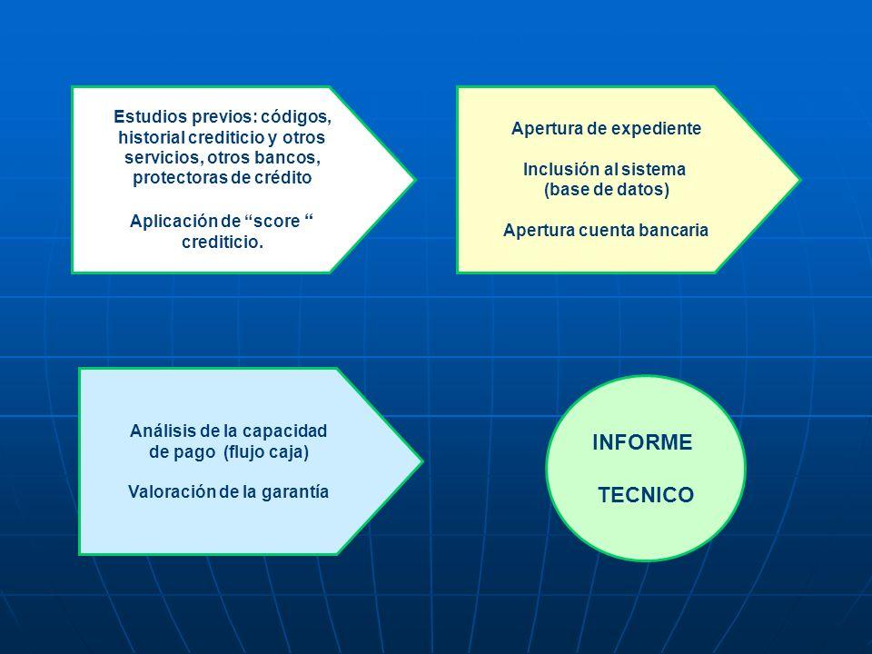 INFORME TECNICO Estudios previos: códigos, Apertura de expediente