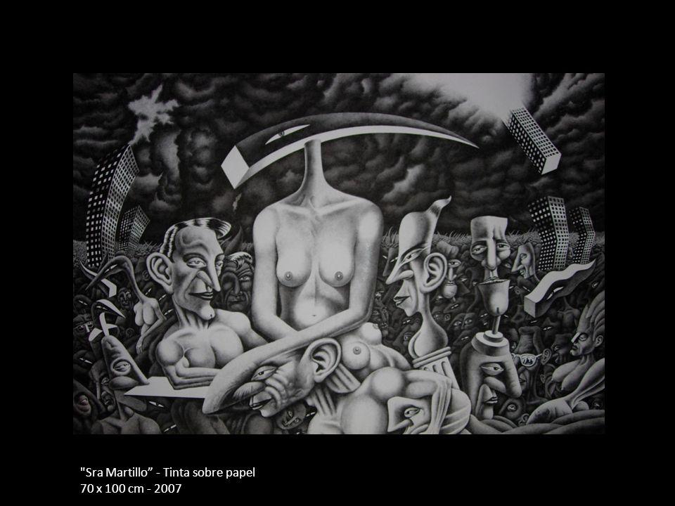 Sra Martillo - Tinta sobre papel