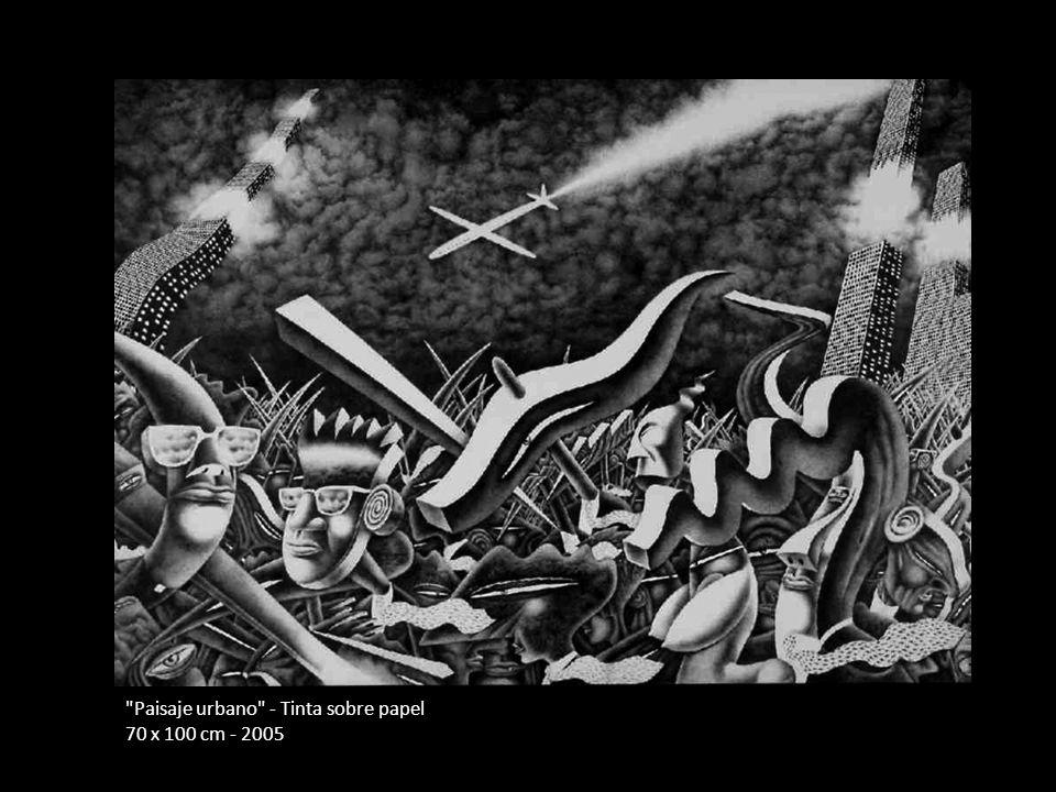 Paisaje urbano - Tinta sobre papel