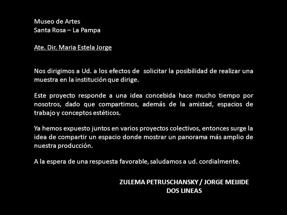 ZULEMA PETRUSCHANSKY / JORGE MEIJIDE DOS LINEAS