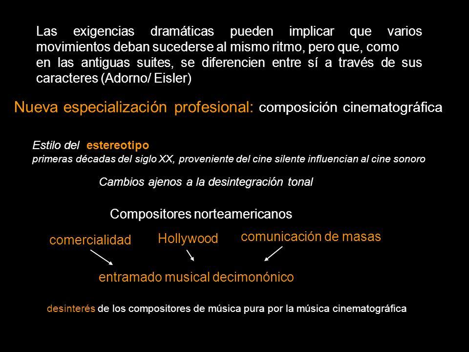 Nueva especialización profesional: composición cinematográfica