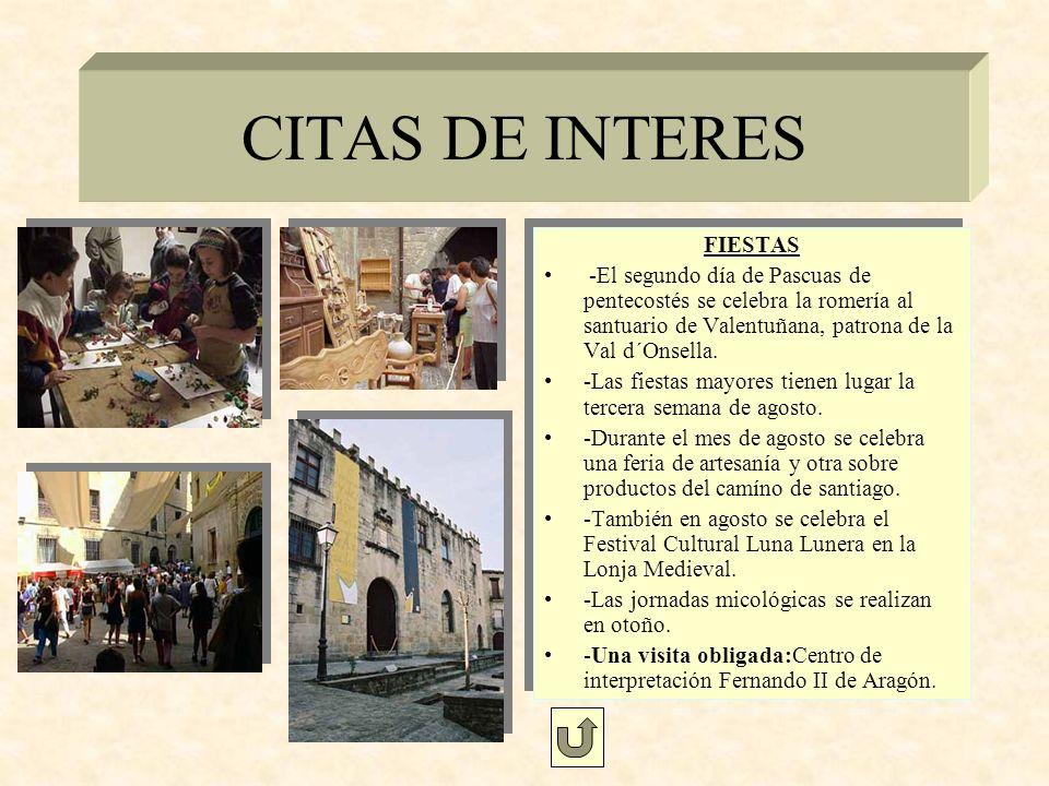 CITAS DE INTERES FIESTAS