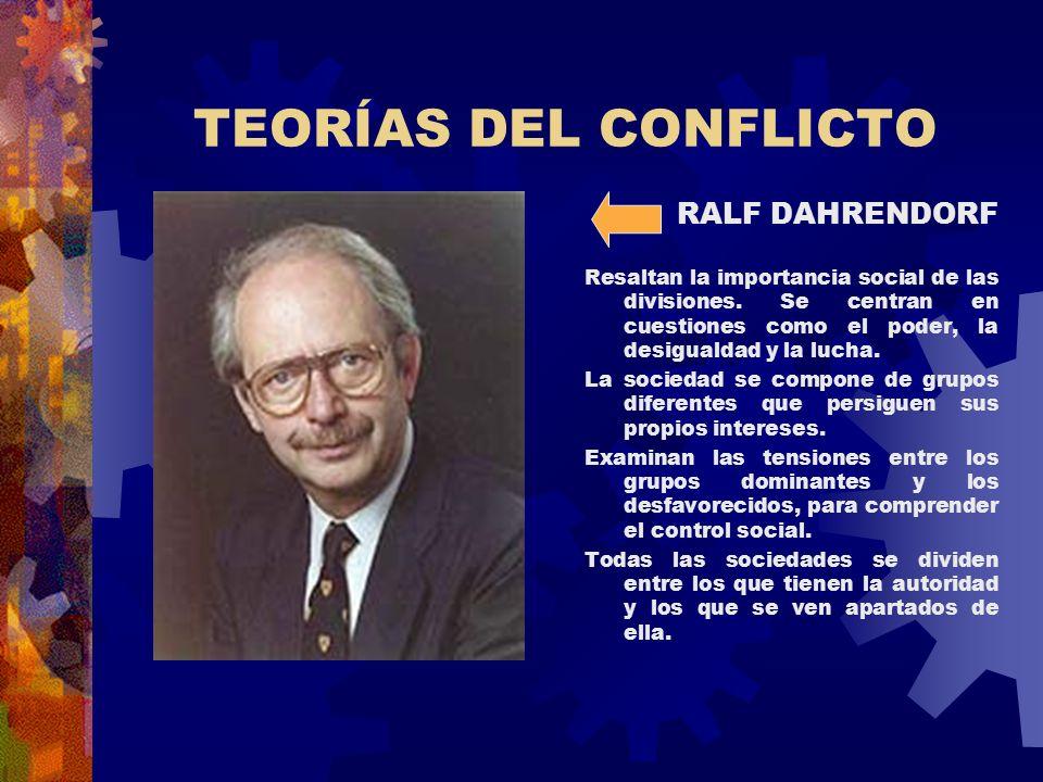 TEORÍAS DEL CONFLICTO RALF DAHRENDORF