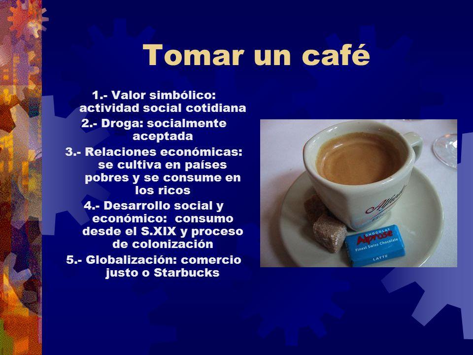 Tomar un café 1.- Valor simbólico: actividad social cotidiana