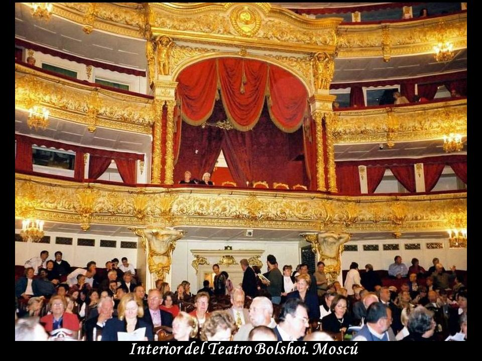 Interior del Teatro Bolshoi. Moscú