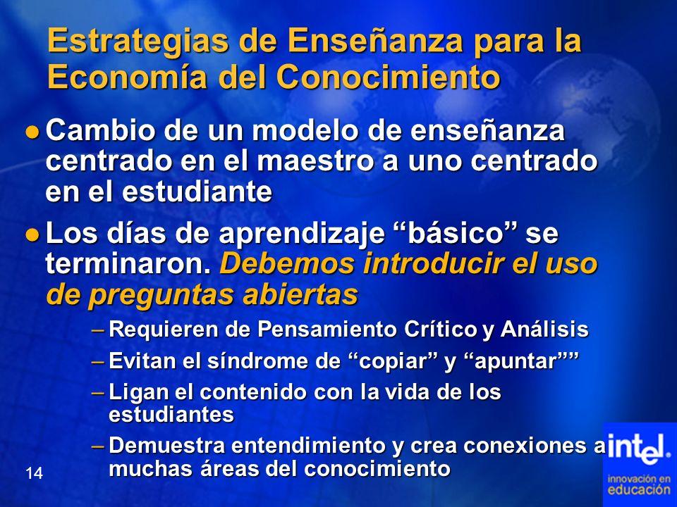 Estrategias de Enseñanza para la Economía del Conocimiento