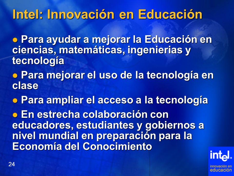 Intel: Innovación en Educación
