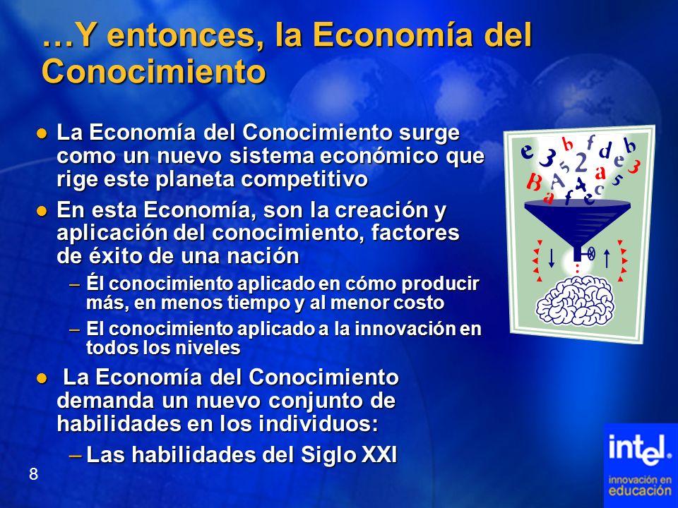 …Y entonces, la Economía del Conocimiento