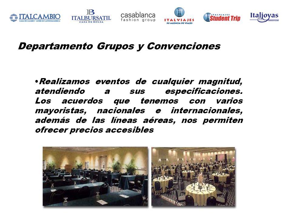 Departamento Grupos y Convenciones