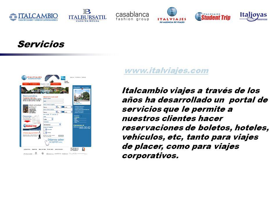 Servicios www.italviajes.com