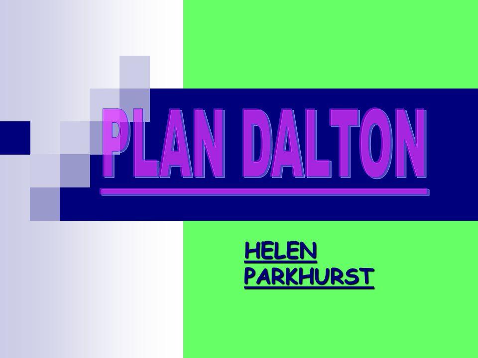 PLAN DALTON HELEN PARKHURST