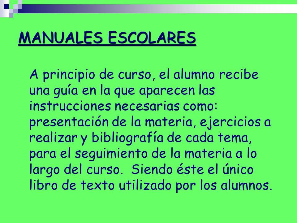 MANUALES ESCOLARES