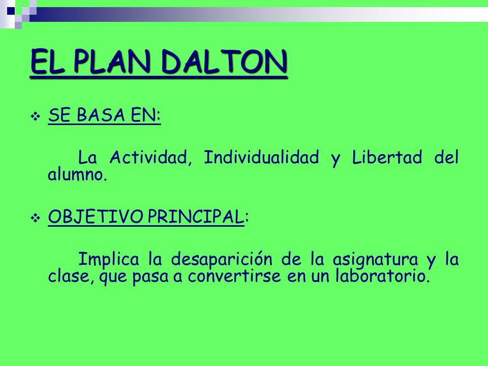 EL PLAN DALTON SE BASA EN: