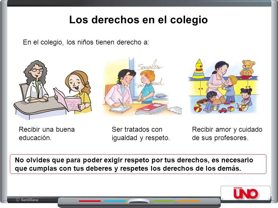 Los derechos en el colegio