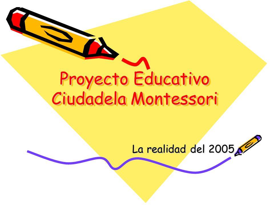 Proyecto Educativo Ciudadela Montessori