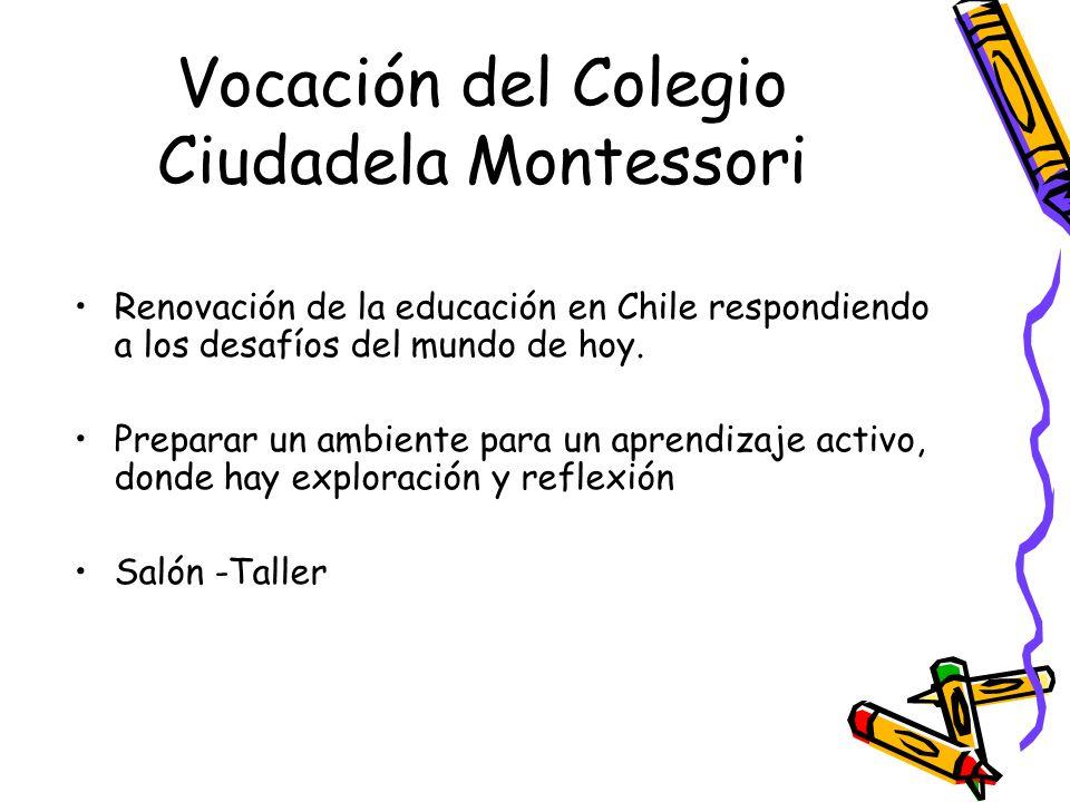 Vocación del Colegio Ciudadela Montessori